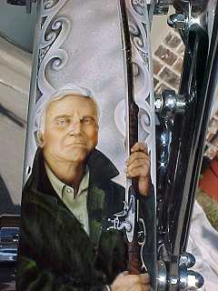 Charlton Heston on the front fender